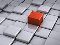 Cube rouge exceptionnel Images libres de droits