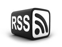 Cube RSS Royalty Free Stock Photography
