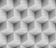 Cube sans couture en modèle de point de vecteur Image libre de droits