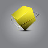 Cube science concept Stock Photography