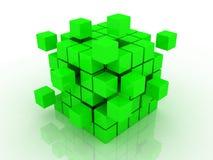 Cube se réunissant à partir des blocs Photo libre de droits