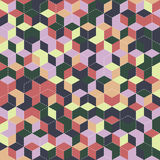 Cube seamless pattern Stock Photography