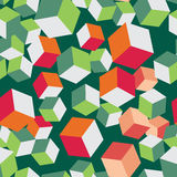 Cube seamless pattern block volume vector Royalty Free Stock Photography