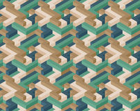 Cube seamless pattern. 3D color shape's seamless pattern Stock Image