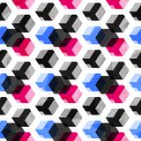 Cube seamless pattern with grunge effect Royalty Free Stock Photography