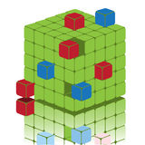 Cube sectionnel illustration stock
