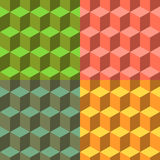 Cube set of vector seamless backgrounds Royalty Free Stock Image