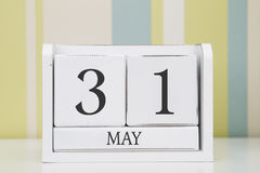 Cube shape calendar for MAY 31 Royalty Free Stock Images