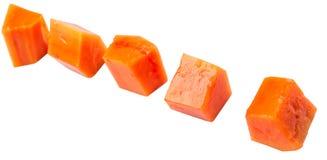 Cube Shape Papaya Fruit III Stock Images