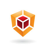 Cube Shaped Abstract Icon Royalty Free Stock Photography