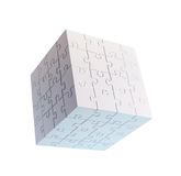 Cube shaped puzzle Stock Images