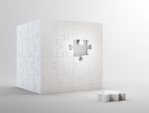Cube shaped puzzle Stock Photography