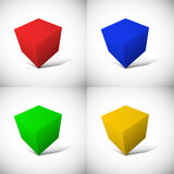 Cube-shaped Software Package Box Royalty Free Stock Image