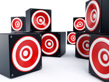 Cube shaped speakers Royalty Free Stock Images