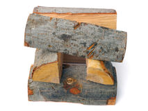 Cube-shaped stack of alder firewood stock photography