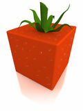 Cube shaped tomato Royalty Free Stock Photography