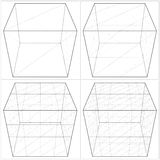 Cube From The Simple To The Complicated Shape Vector 04 Royalty Free Stock Images