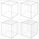 Cube From The Simple To The Complicated Shape Vector 05 Stock Photos
