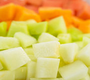 Cube Sized Melons, Honeydew I Stock Photo
