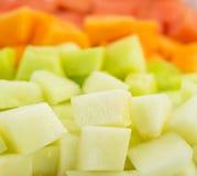 Cube Sized Melons, Honeydew I stock photo