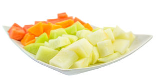 Cube Sized Melons And Honeydew II Stock Photos
