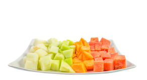 Cube Sized Melons And Honeydew III stock photography