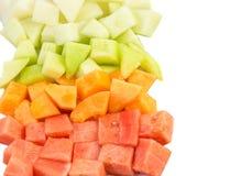 Cube Sized Melons, Honeydew III stock photos
