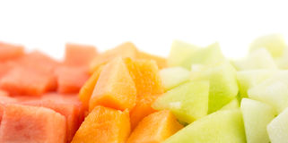 Cube Sized Melons, Honeydew IV Royalty Free Stock Photography