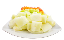 Cube Sized Melons And Honeydew VI Royalty Free Stock Images