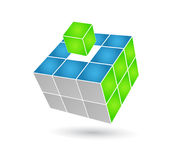Cube solution. 3d effect cube solution icon for business Stock Photo