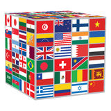 Cube with some of world flags Royalty Free Stock Photos