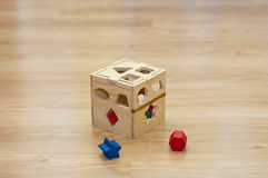 Cube sorter. For child play Royalty Free Stock Image