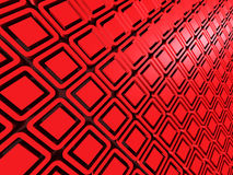 Cube squeres abstract pattern red 3d background Stock Photos
