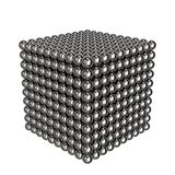 Cube of steel balls. Toy for children. 3D rendering. stock illustration