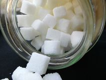 Cube sugar. Stock Photography