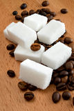 Cube sugar and coffee Royalty Free Stock Photo