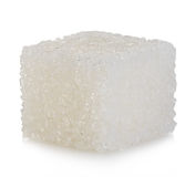 Cube of sugar isolated on white Stock Photos