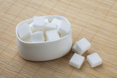 Cube sugars Royalty Free Stock Images