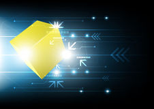 Cube and technology background Stock Photo