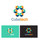 Cube technology 3D logo Royalty Free Stock Photo