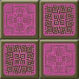 Cube tiles seamless generated hires texture Royalty Free Stock Photos