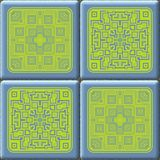Cube tiles seamless generated hires texture Royalty Free Stock Photography