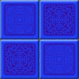 Cube tiles seamless generated hires texture Stock Image