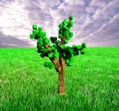 Cube tree Royalty Free Stock Photo