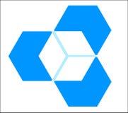 cube trois dimensionnels Images stock