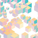 Cube vector background. Abstract Pastel Color cube vector background Royalty Free Stock Photography