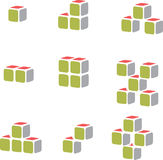 Cube vector for construction business Royalty Free Stock Image
