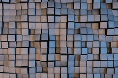 Cube waves background. Abstract background with 3D cubes Royalty Free Stock Images