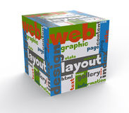 Cube web design Stock Photos