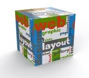 Cube web design. Layout concept Stock Photos